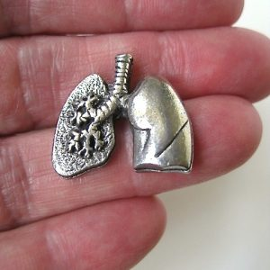 anatomical lungs-pewter