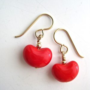 red-kidney-earrings