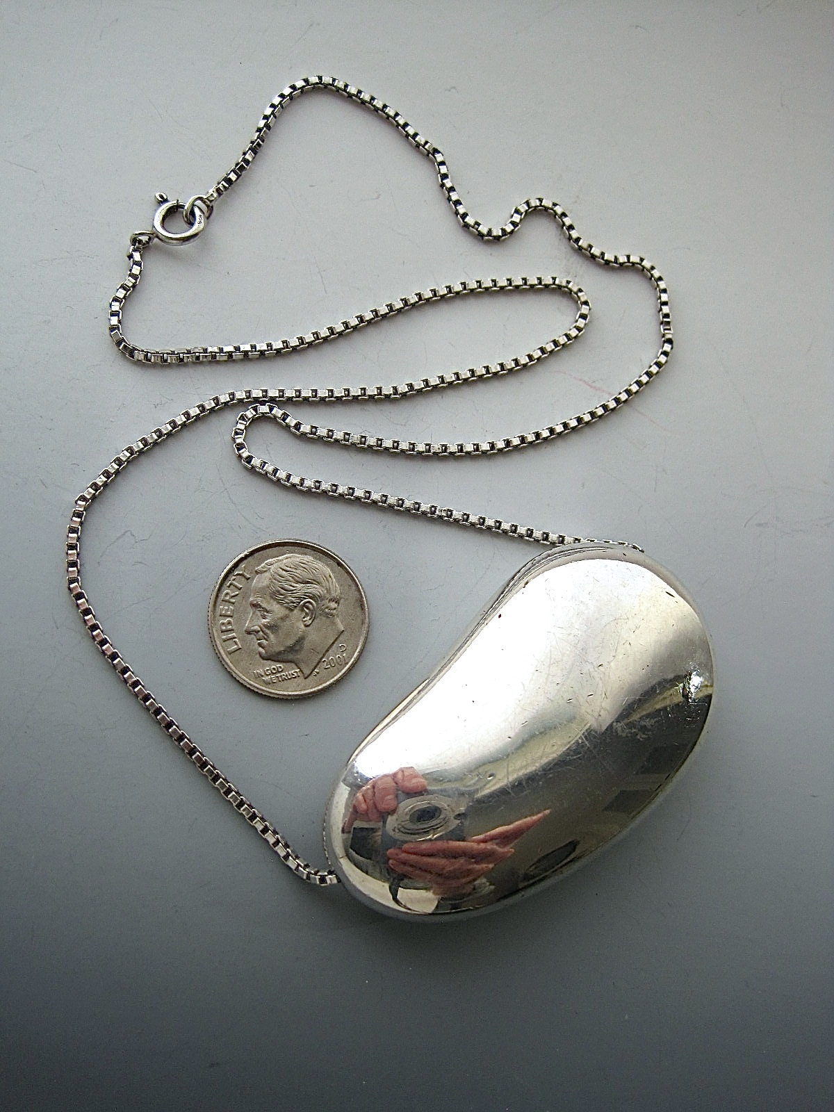 e8ae3fd63 Vintage Large Silver Kidney Bean Necklace « Kidney Jewelry ...