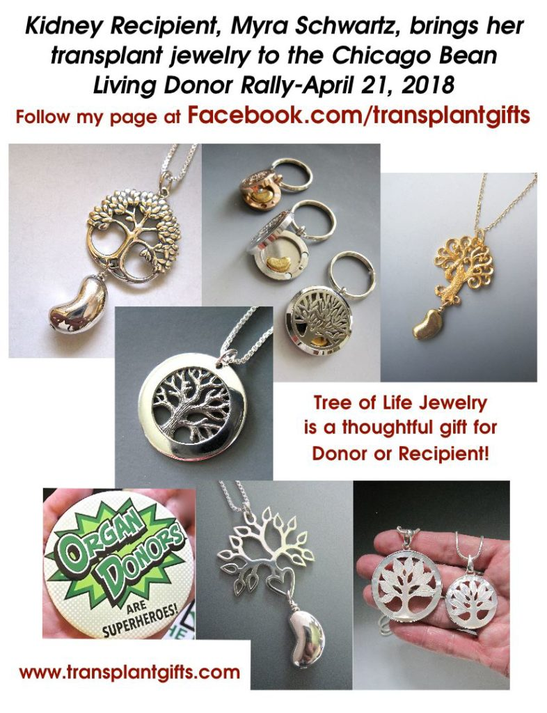 Blog kidney jewelry transplant gifts for Jewelry show chicago 2018